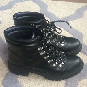 Zara Black Laced Booties